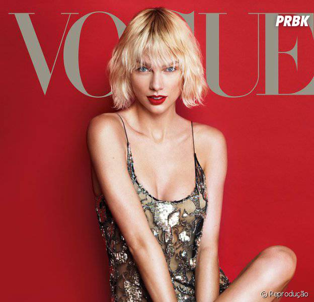 Taylor Swift estampa capa e recheio da Vogue norteamericana