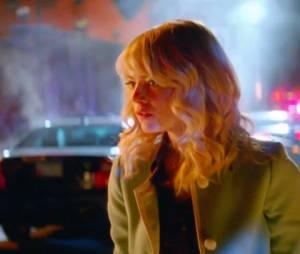 """Gwen Stacy (Emma Stone) teme pela vida de Peter Parker (Andrew Garfield) em """"O Espetacular Homem-Aranha 2"""""""