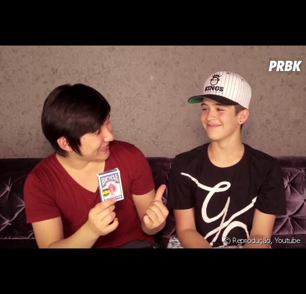 João Guilherme Ávila se surpreende com as mágicas de Pyong Lee em novo vídeo do canal