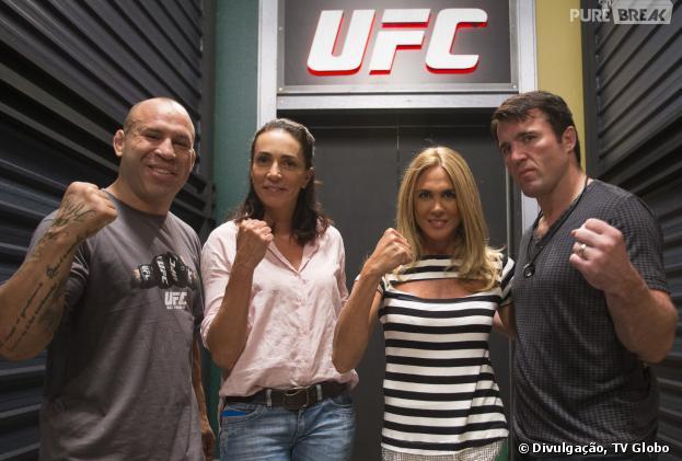 """Na 3ª temporada do """"The Ultimate Fighter Brasil"""", Wanderlei Silva e Chael Sonnen são os técnicos e têm o reforço de Hortência e Isabel Salgado"""