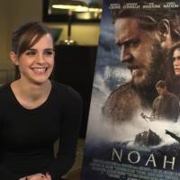 """Emma Watson faz graça ao apresentar novo trailer de """"Noé"""""""