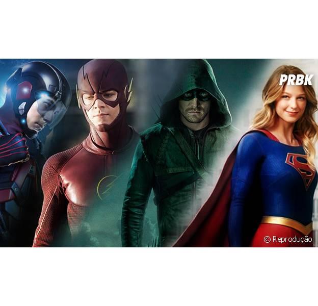 """De """"Arrow"""", """"The Flash"""", """"Legends of Tomorrow"""" e """"Supergirl"""": presidente da The CW anuncia grande crossover entre as séries!"""
