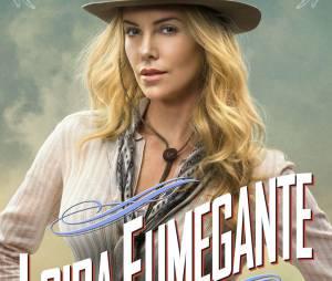 """Charlize Theron em cartaz de """"Um Milhão de Maneiras de Pegar na Pistola"""""""