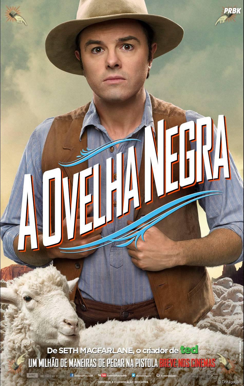 """Seth MacFarlane em cartaz de """"Um Milhão de Maneiras de Pegar na Pistola"""""""