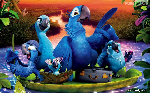 """Em """"Rio 2"""", a ararinha-azul Blu vive uma aventura na Amazônia com sua família"""