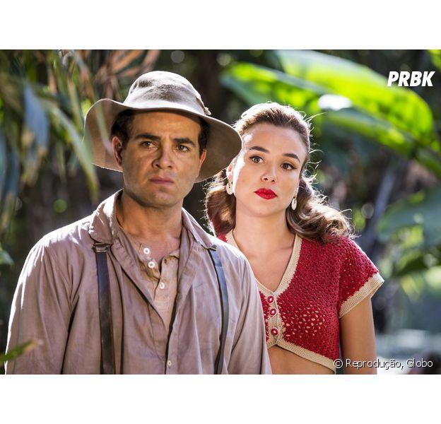 """Em """"Êta Mundo Bom!"""", Zé dos Porcos (Anderson di Rizzi) e Sarita (Juliane Araújo) vão casar? Caipira recebe proposta!"""