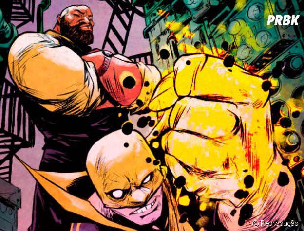 Luke Cage e Punho de Ferro são grandes amigos nos quadrinhos!