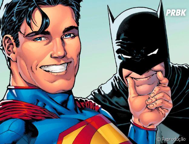 Superman e Batman são com certeza os melhores amigos dos quadrinhos!