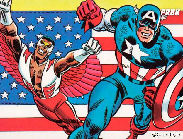 Capitão América e Falcão ficam em segundo lugar no pódio!