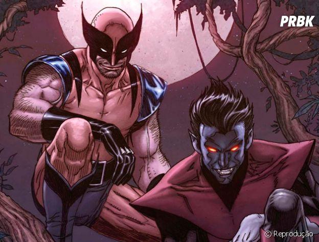 """Wolverine e Noturno, também de """"X-Men"""", são carne e unha nos quadrinhos"""