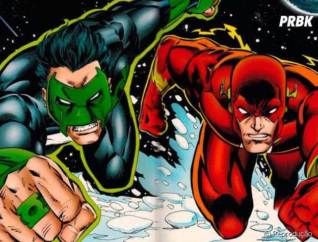 Flash e Lanterna Verde formam aquele tipo de amizade de novatos que entram num lugar onde todo mundo já se conhece!