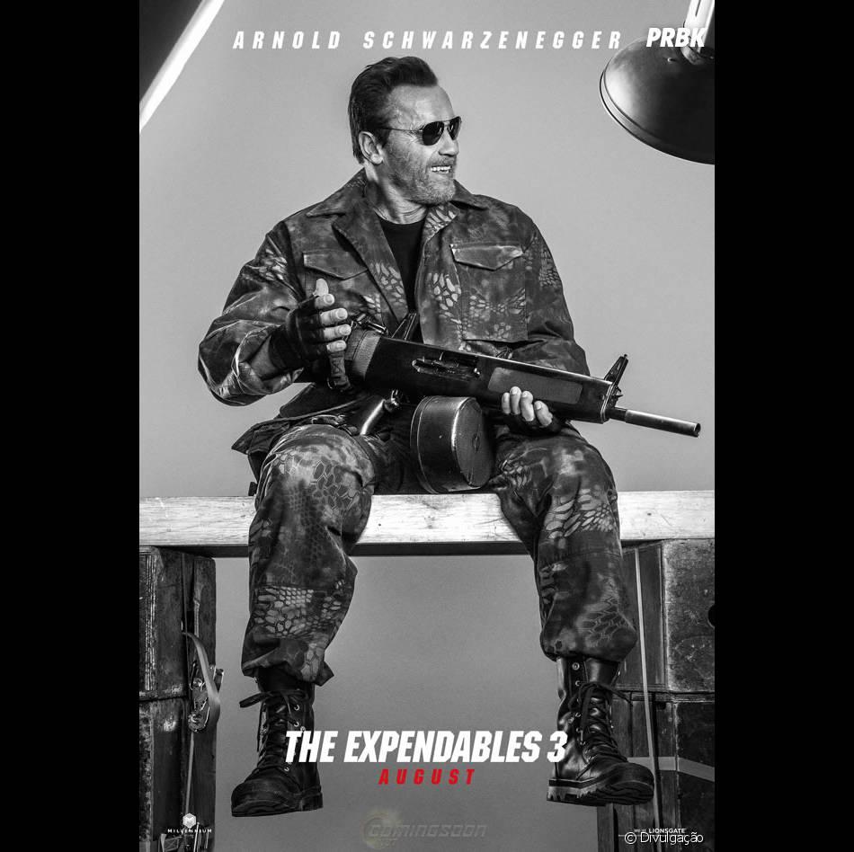 """Schwarzenneger está no elenco de """"Os Mercenários 3"""""""