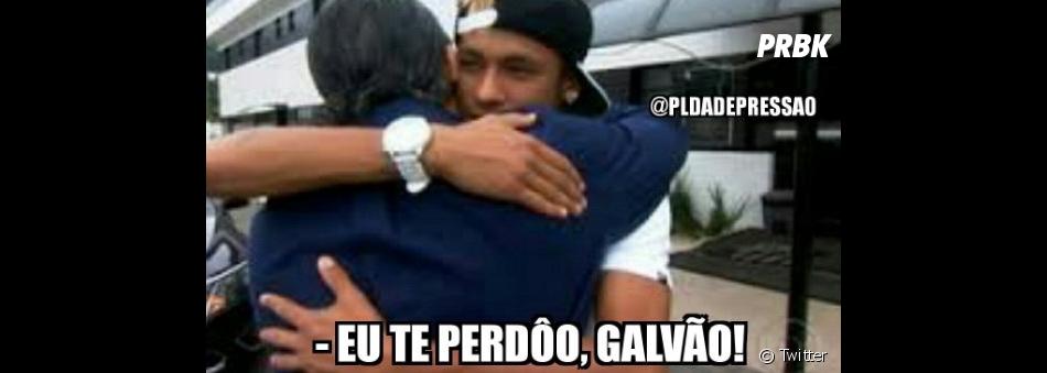 Reconciliação de Galvão Bueno e Neymar Jr. vira piada na web durante as Olimpíadas Rio 2016