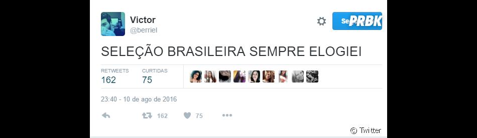 Teve gente querendo mandar o papo de quem sempre acreditou no Brasil nasOlimpíadas Rio 2016
