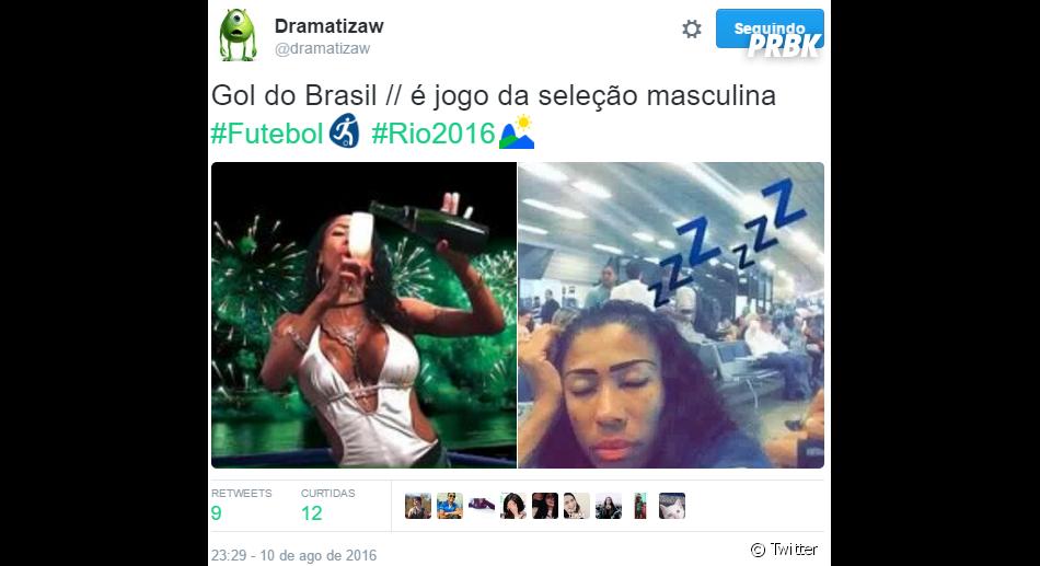 A Seleção masculina do Brasil venceu a Dinamarca, mas tinha gente querendo ver Marta em ação...