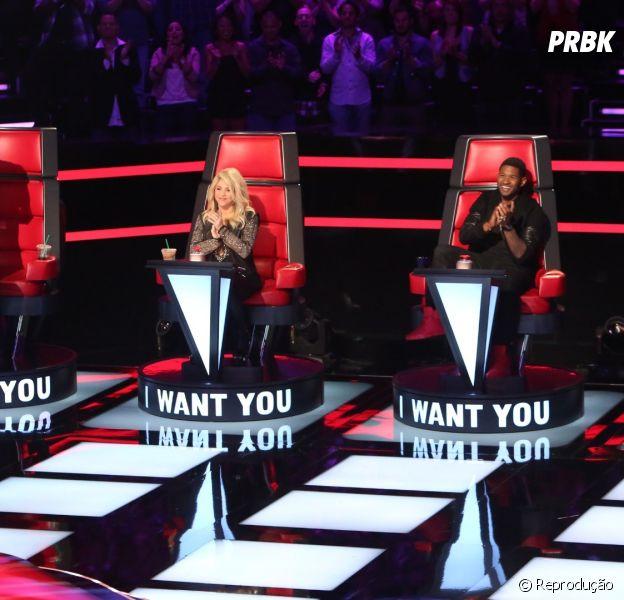 """Shakira, Adam Levine, Usher e Blake estão com um trabalhão nas mãos no """"The Voice US""""!"""