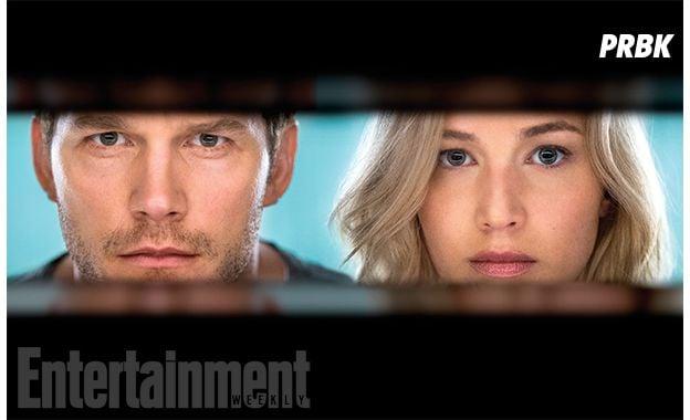 """De """"Passenger"""": Jennifer Lawrence e Chris Pratt aparecem em primeiras imagens oficiais do filme"""