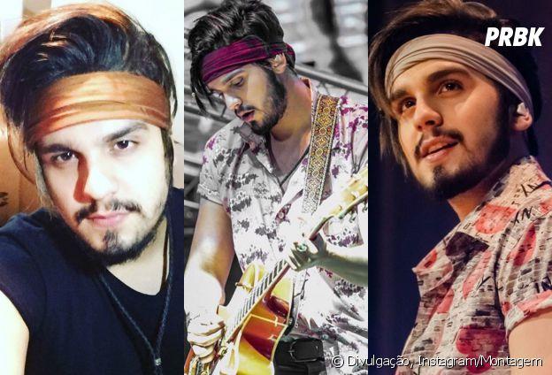 Atualmente, Luan Santana está com um visu meio hipster com misturas de estampas, cores fortes, headbands e cabelão grande!