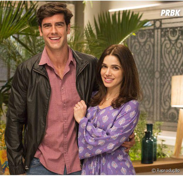 """Novela """"Haja Coração"""": Felipe (Marcos Pitombo) eShirlei(Sabrina Petraglia) são mais próximos do que imaginam!"""