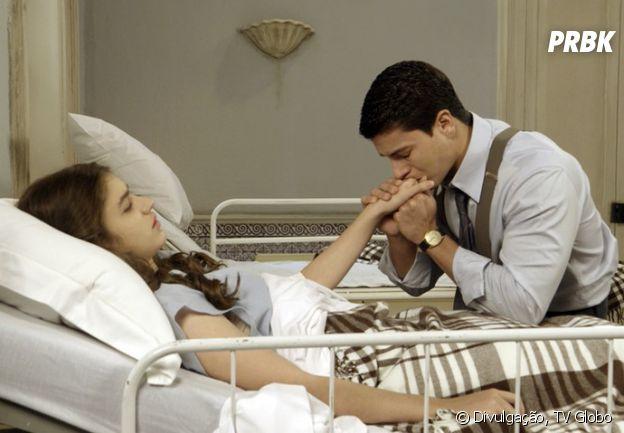 """Osório (Arthur Aguiar) e Gerusa (Giovanna Grigio) se declaram um para o outro antes da mocinha morrer em """"Êta Mundo Bom!"""""""