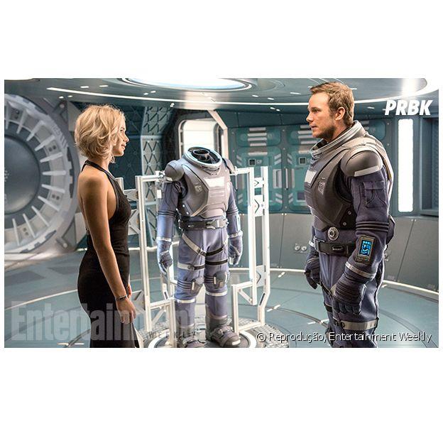 "Jennifer Lawrence e Chris Pratt estrelam ""Passengers"""