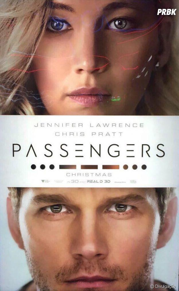 """""""Passengers"""", com Jennifer Lawrence e Chris Pratt, ganha cartaz oficial"""