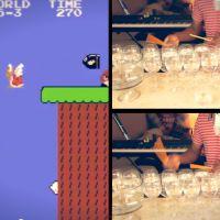 """Ouça a inesquecível música do game """"Mario Bros"""" tocada em taças de vinho!"""