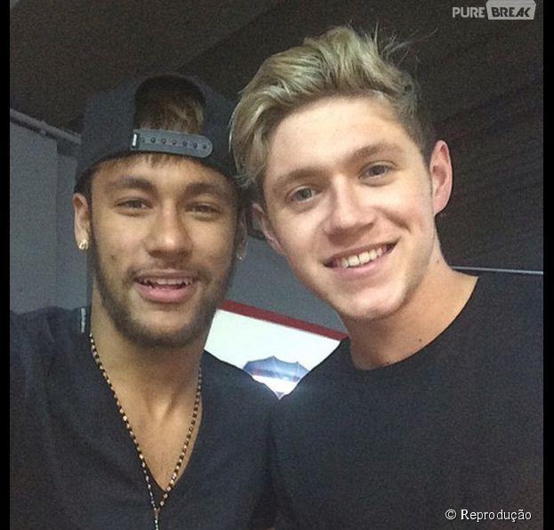 Neymar e Niall Horan, do 1D, aparecem em foto juntos no Instagram