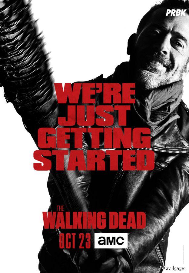"Negan (Jeffrey Dean Morgan) aparece em destaque no cartaz de ""The Walking Dead"""