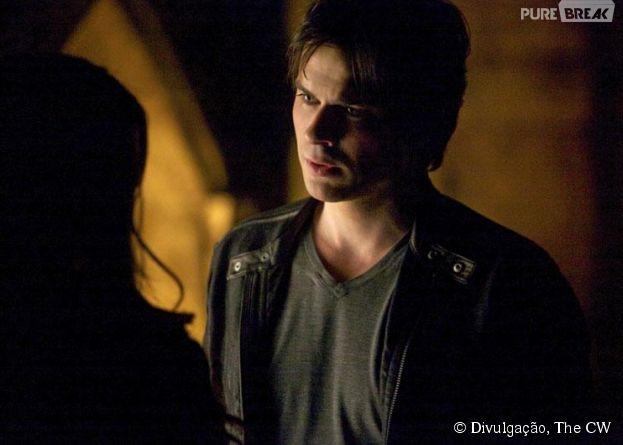 """Em """"The Vampire Diaries"""", Damon (Ian Somerhalder) vai surtar após saber de uma tragédia"""