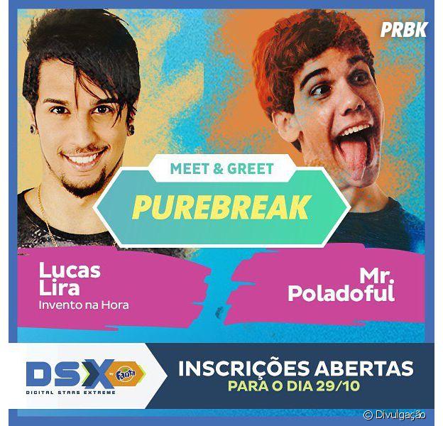 Digital Stars Extreme te dará a chance de conhecer Lucas Lira e Mr. Poladoful