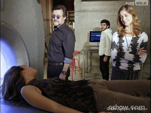 """Em """"Além do Horizonte"""", LC (Antônio Calloni) colocará Lili (Juliana Paiva) na temida máquina"""