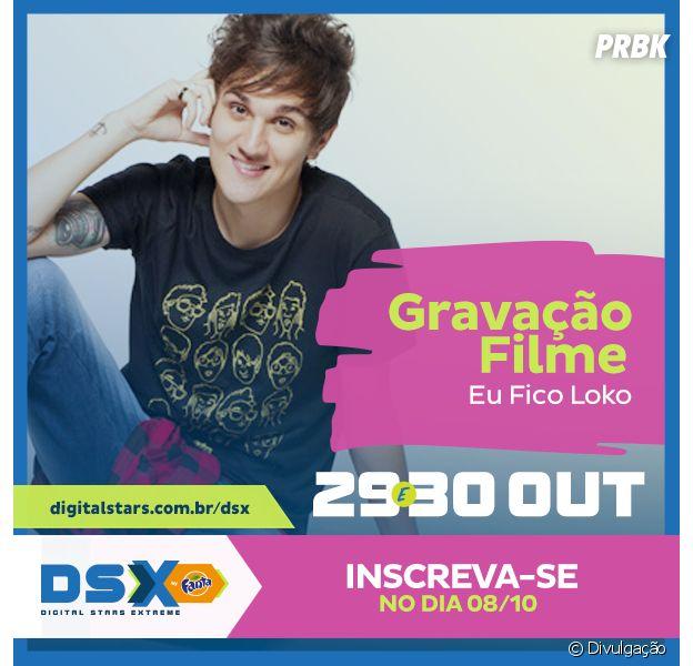 """DSX: Christian Figueiredo vai gravar o """"Eu Fico Loko - O Filme"""" com um dos fãs da Digital Stars Extreme!"""