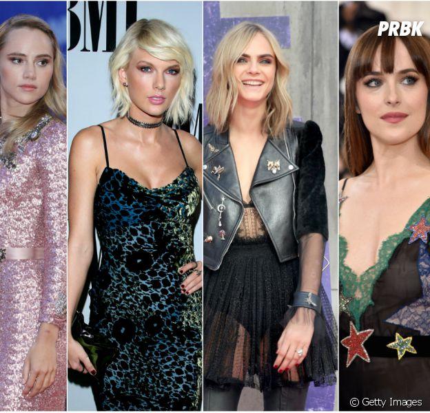 Taylor Swift, Dakota Johnson, Cara Delevingne e Suki Waterhouse saem juntas para se divertir!