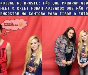 Avril Lavigne virou piada na internet com o seu Meet & Greet no Brasil