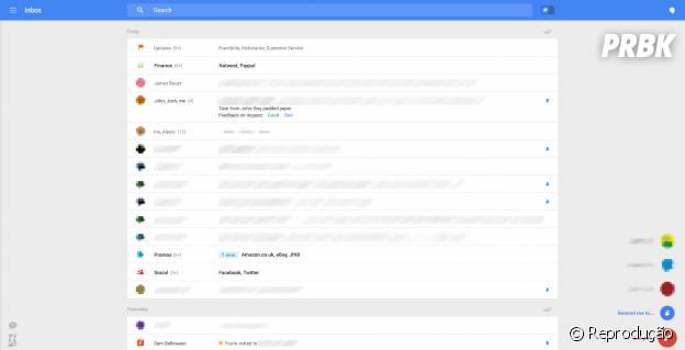 A nova versão é semelhante ao app Gmail