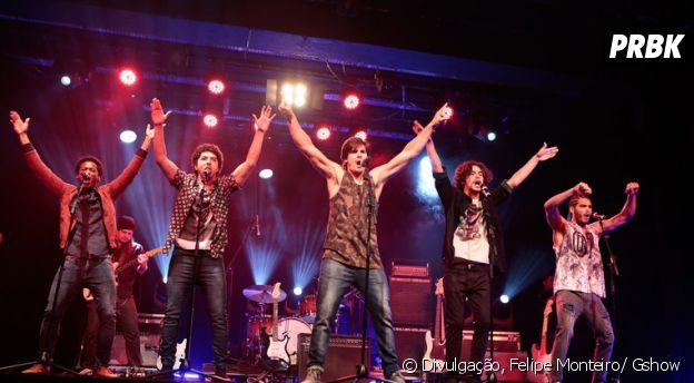 Nicolas Prattes fez o público delirar ao se apresentar com a boy band 4.4
