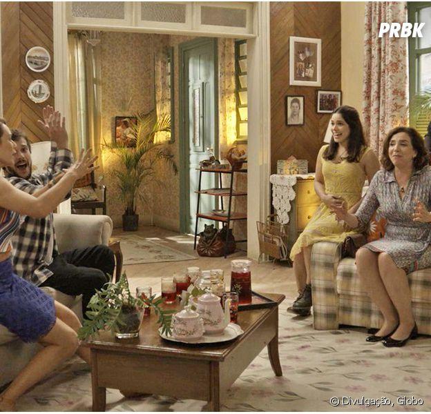 """Em """"Haja Coração"""", Shirlei (Sabrina Petraglia) revela que está grávida de Felipe (Marcos Pitombo)!"""