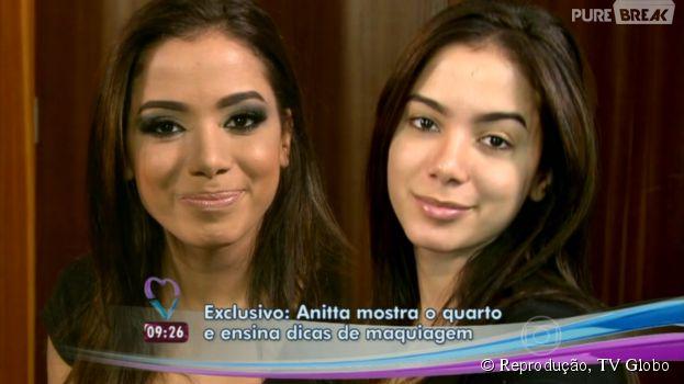 """Anitta aparece sem maquiagem no """"Mais Você"""", prepara uma pizza e ainda dispara: """"Estou solteira!"""""""
