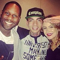 Claudia Leitte e MC Guime gravam música juntos com produtor de Miley Cyrus