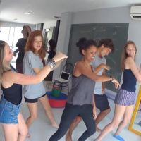 """Larissa Manoela dança funk """"Deu Onda"""" com Pyong Lee e elenco do filme """"Meus 15 Anos""""!1"""