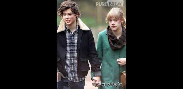 Harry Styles e Taylor Swift fazendo Faceswap
