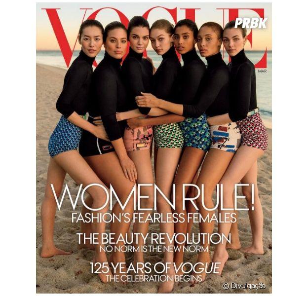 Kendall Jenner e Gigi Hadid estampam nova capa da Vogue