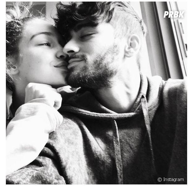 Gigi Hadid posta foto romântica com Zayn Malik