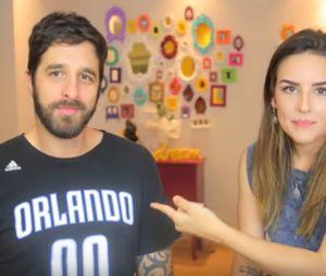 Kéfera Buchmann e Rafinha Bastos fizeram desafio juntos no Youtube!