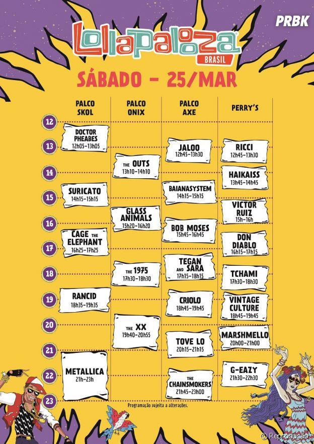 Lollapalooza 2017 tem programação do 1º dia divulgado!