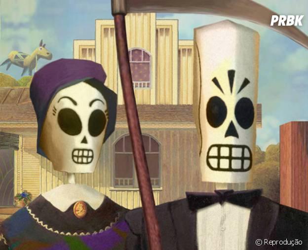 """Many e Meche são um casal engraçado em """"Grim Fandango"""""""