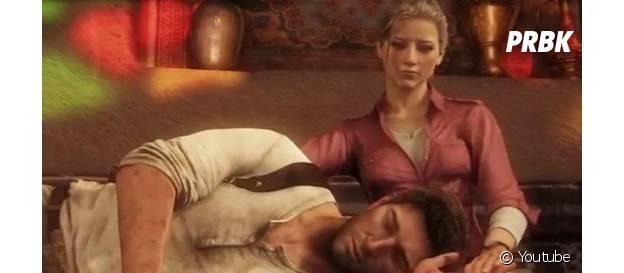 """Depois de muito clima e atração entre os pombinhos, Natan e Elena de """"Uncharted"""" ficam juntos"""