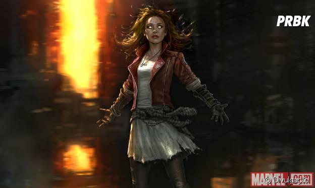 """Arte conceitual da Feiticeira Escarlate para """"Os Vingadores 2"""""""