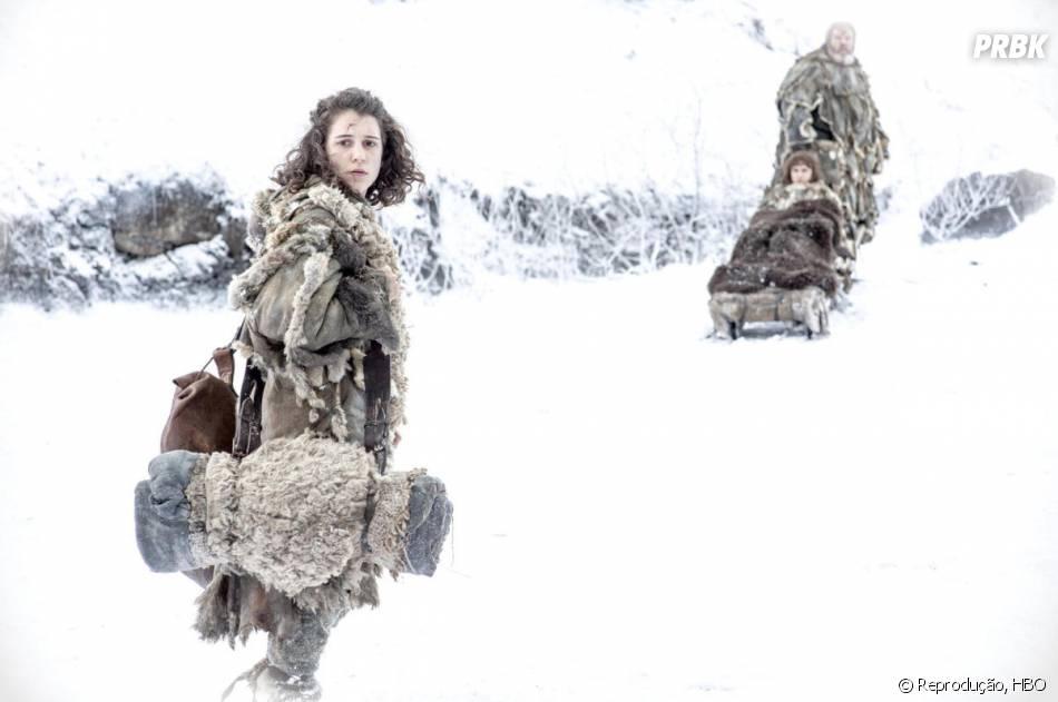 """Será que Bran (Isaac Hempstead-Wright) e Meera (Ellie Kendrick) vão conseguir chegar ao seu destino antes do fim de """"Game of Thrones""""?"""